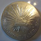 1896-Go RS #1 MEXICAN SILVER 8 REALES