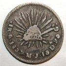 1832 Go MJ  #1  Silver 1 Real Mexico