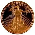 Gem BU 2011 St. Gaudens 1 Oz. Copper Bullion Coin