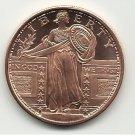Gem BU Standing Liberty 1 Oz. Copper Bullion Coin