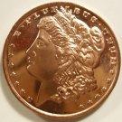 Gem BU 2012 Morgan Design One  OZ.  Copper Bullion Coin