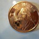 2010 Unc. One Oz. .999 Copper Lakota Coin