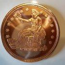 Gem BU 2011 Seated Liberty 1 Oz. Copper Bullion Coin