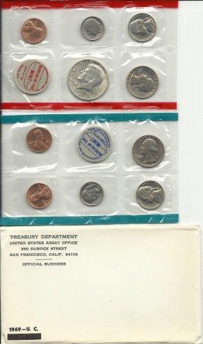 1969-P/D Unc. Silver Mint Set w/envelope