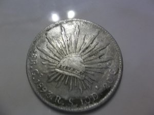 1893- Go RS Silver Eight Reales Mexico