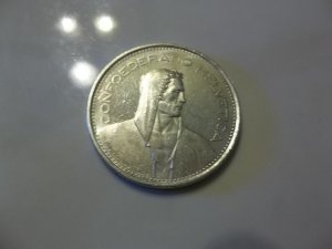 1967-B  #1  AU+ Swiss 5 Franc Silver (William Tell, type 3)