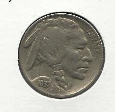 1937 #20   Buffalo Nickel.