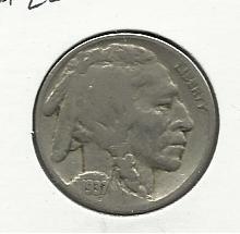 1937 #22  Buffalo Nickel.