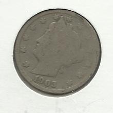 "1903 #3  Liberty ""V""  Nickel."