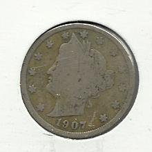 "1907 #11  Liberty ""V""  Nickel"