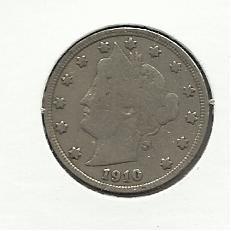"1910 #11 Liberty ""V""  Nickel"