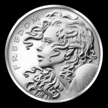 2013 Freedom Girl Silver Bullet Silver Shield 1 oz .999 Fine Silver Bullion