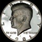 1981-S Type II Gem Proof Deep Mirror Cameo Kennedy Half Dollar