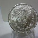 1945 #4  Unc.  Mexican Un Peso Silver Dollar