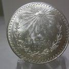 1940 #1 Unc.  Mexican Un Peso Silver Dollar