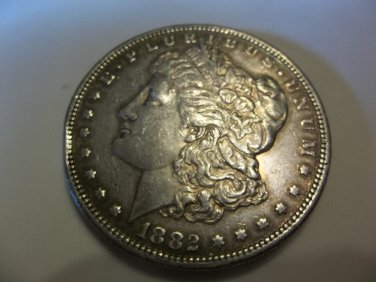 1882-S #1  90% Silver Morgan Dollar.