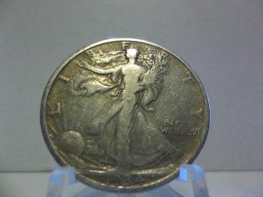 1934 #1 90% Silver Walking Liberty Half Dollar.