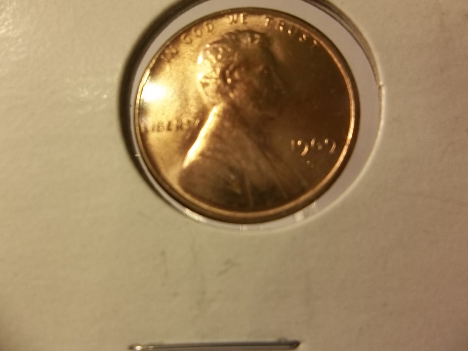 1969-D #2 BU/Toned  Lincoln Cent.