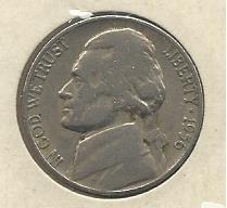 1956-D #1 Jefferson Nickel.