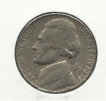 1970-S #1 Jefferson Nickel.