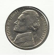 1977 #1 Jefferson Nickel.
