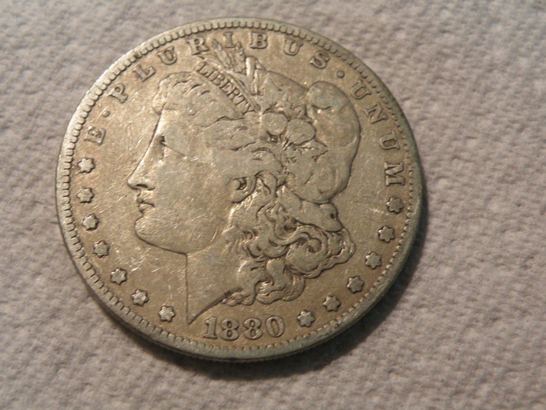 1880 #1  90% Silver Morgan Dollar.