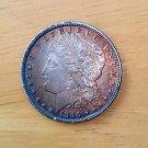 1896 #4  90% Silver RainBow Morgan Dollar