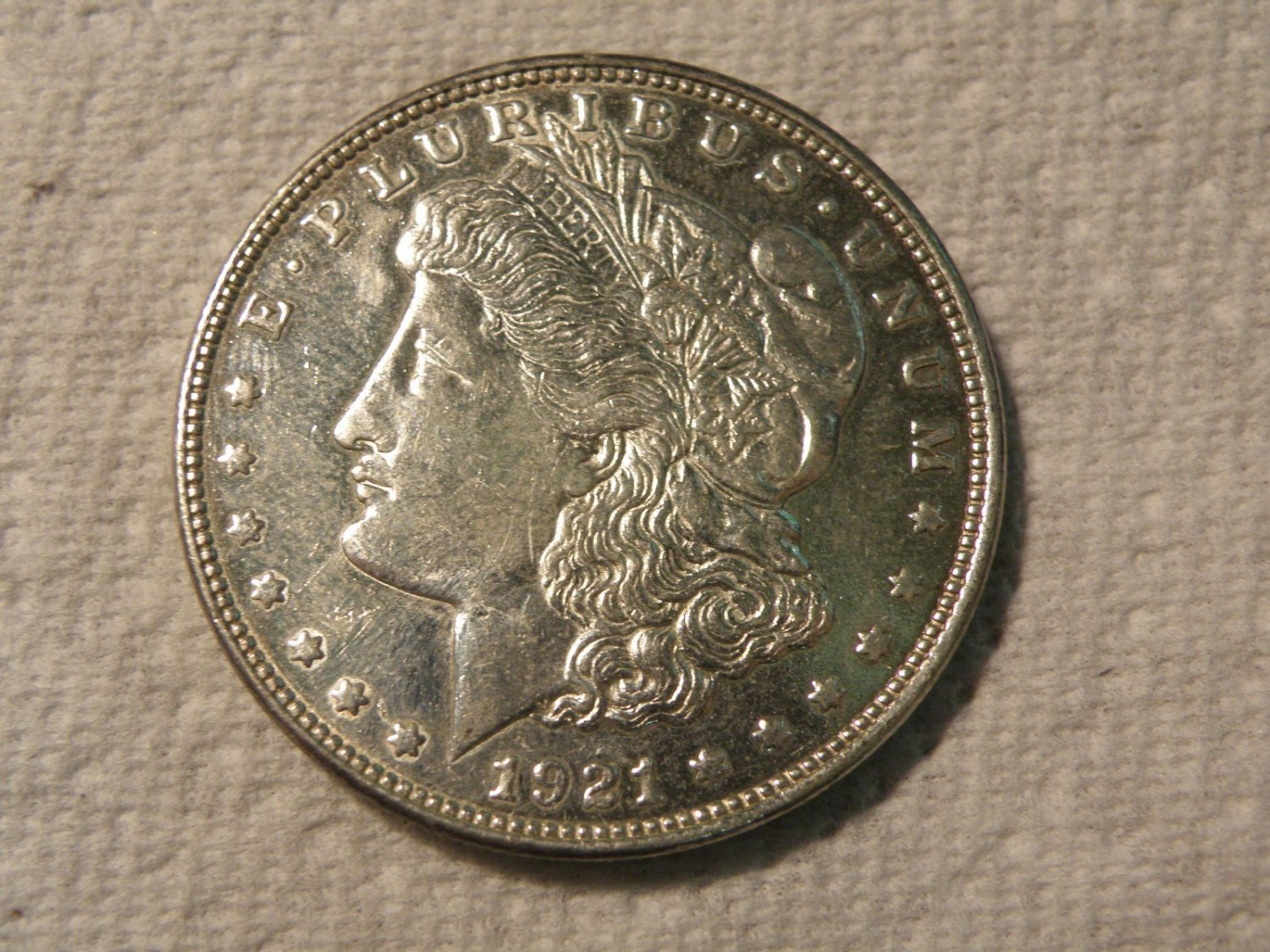 1921 Proof Like  #4  90% Silver  Morgan Dollar.