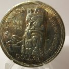 1858-1958 TOTEM POLE SILVER DOLLAR CANADA British Columbia 1 Year Type