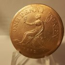 1812 Large Copper One Penny Token Roscoe Place Sheffield