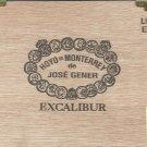 "5"" x 4 x 8"" ""EXCALIBUR"" Solid Wood Cigar Box"