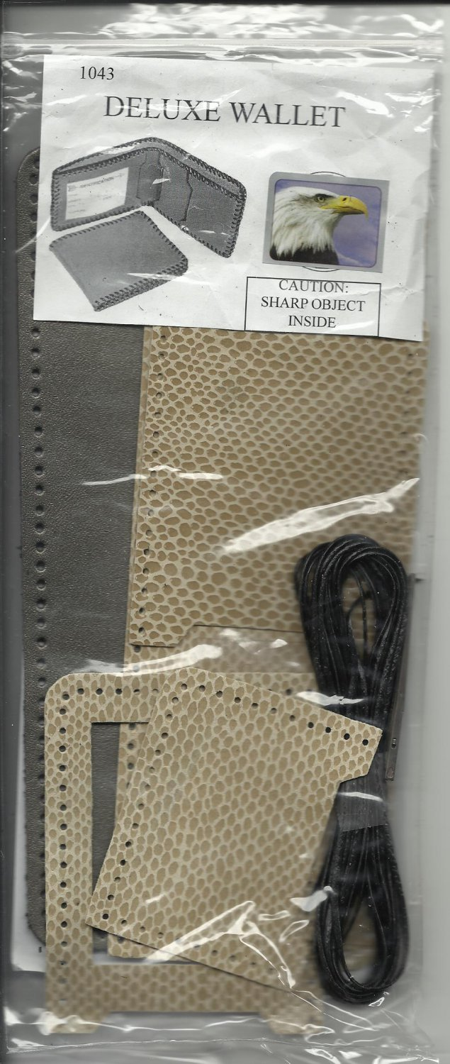 Deluxe Leather Wallet Kit - New