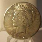 1922-S #4   Peace 90%  Silver Dollar