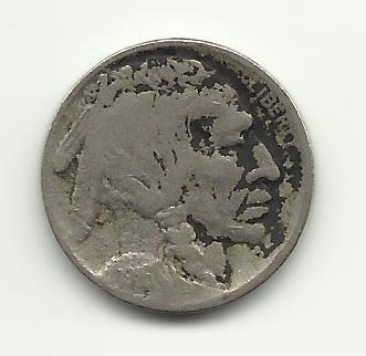 1916 #13 Buffalo Nickel with 3/4 horn