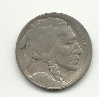 1917-S #10 Buffalo Nickel with Full Horn.
