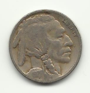 1921 #5 Buffalo Nickel.