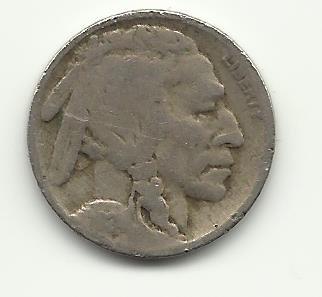 1924 #7 Buffalo Nickel.