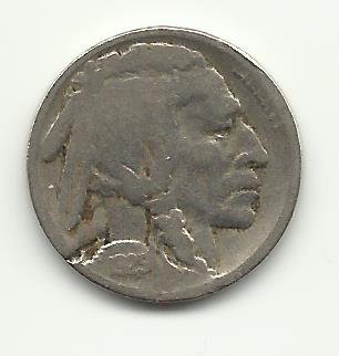 1925-D #3 Buffalo Nickel with 1/2 horn
