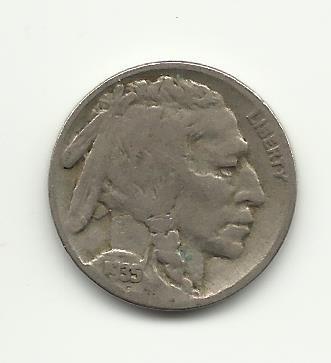 1935-S #6 Buffalo Nickel with 1/2  horn