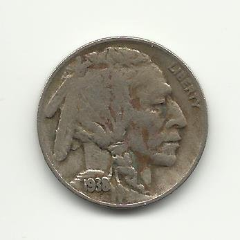 1938-D #2 Buffalo Nickel with almost full horn.
