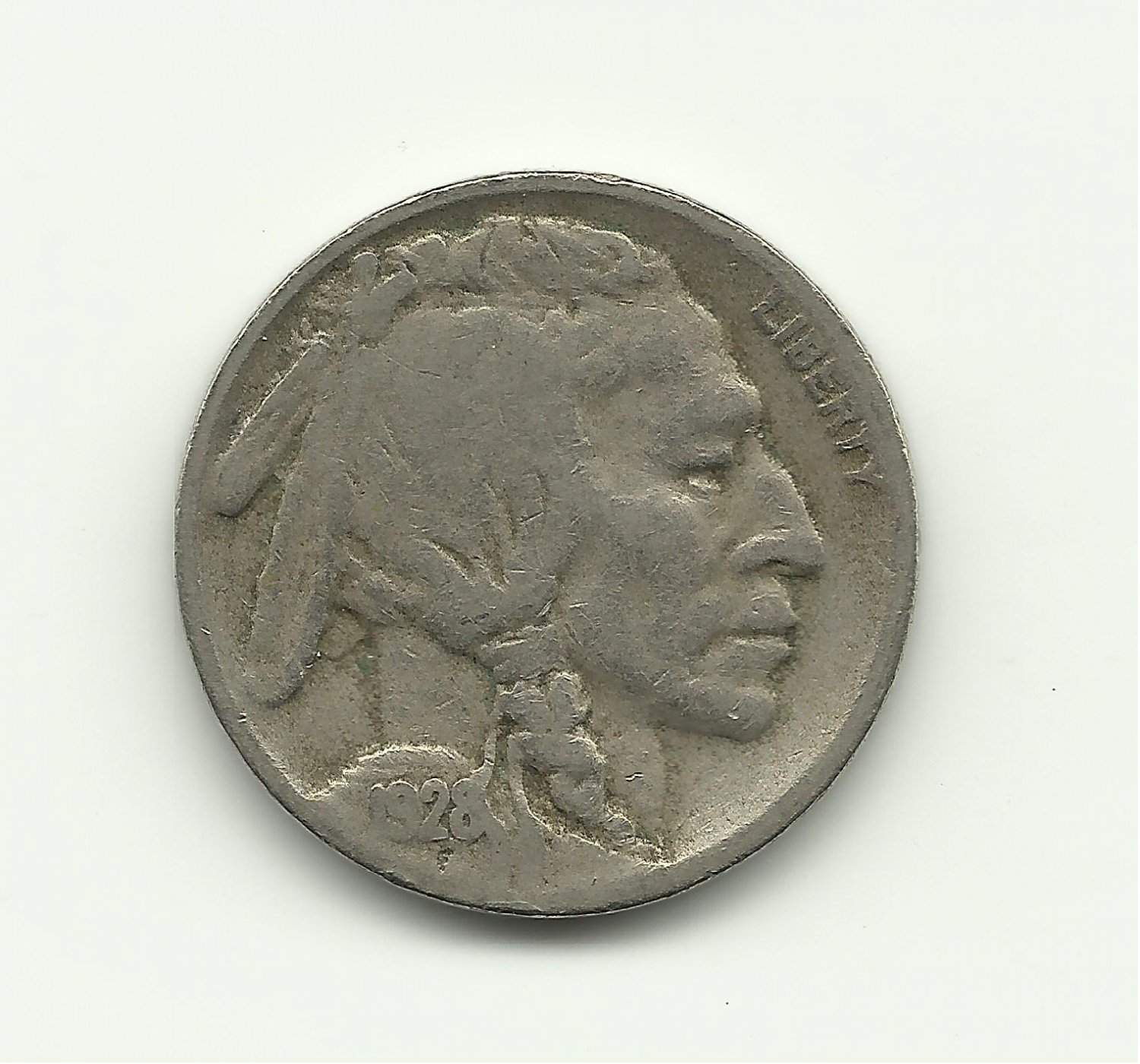 1928-D #2 Buffalo Nickel.
