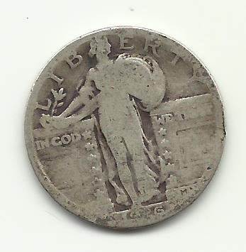 1926-S #1 90% Silver Standing Liberty Quarter.