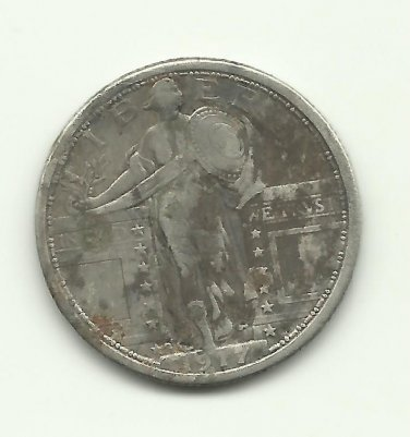 1917-S TY-1 #1 Standing Liberty Quarter.