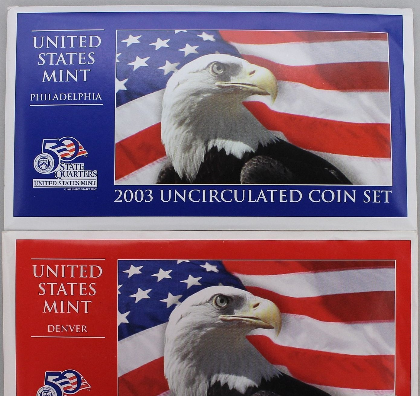 2003 Mint Set Original Envelope 20 US Coins Sacagawea Dollars  Mint Set