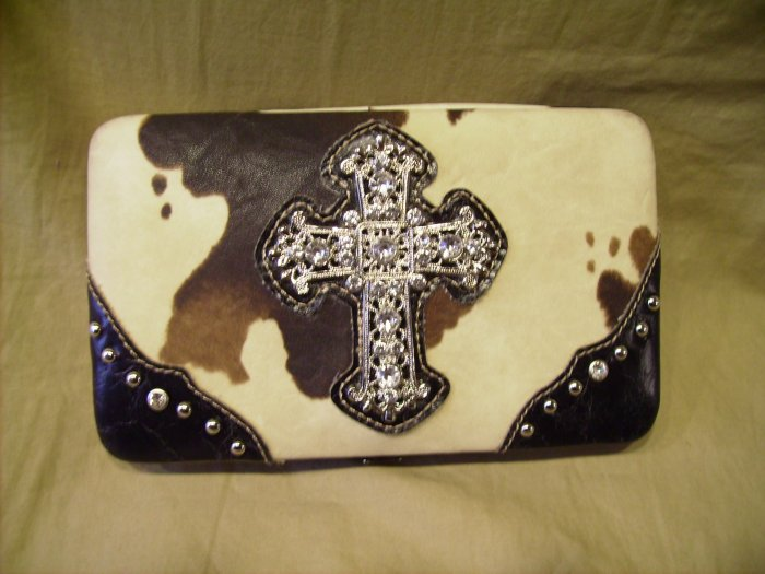 Country road cow print wallet