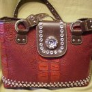 CR Red Rhinestone Purse