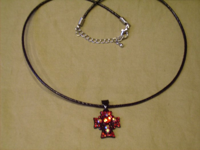 Red Rhinestone Cross
