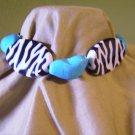 Zebra Turq. Bracelet