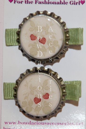 Bottle Cap Clippies for Hair