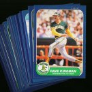 1986 FLEER A'S TEAM SET KINGMAN NMMT-MT